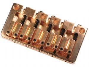 CONTEMPORARY 5 STRING BASS BRIDGE GOLD